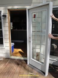 How To Replace Exterior Door Changing Exterior Door Frame Exterior Doors Ideas
