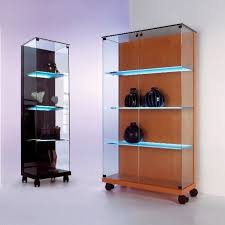 minimalist elegance glass showcase for attractive focal point on