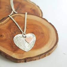 make silver necklace images How to make a hammered copper silver heart pendant kernowcraft jpg