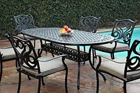Cast Aluminum Patio Tables Cbm Outdoor Cast Aluminum Patio Furniture 7 Pc Dining