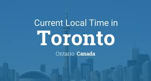 Canada Time Zones Map by Current Local Time In Toronto Ontario Canada