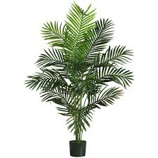 Tropical Home Decor Indoor 5ft Artificial Fake Paradise Silk Palm Tree Plant Tropical