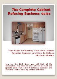 Kitchen Cabinet Business by The Cabinet Refacing Business Guide