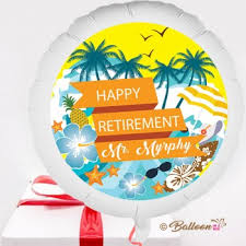 retirement balloon delivery personalised retirement