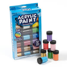 permanent acrylic paint 24 pack by horizon group usa walmart com