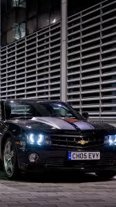 скачать 720x1280 Chevrolet Camaro Rs черный вид сбоку обои