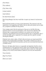retail cover letter examples resumedoc