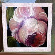 second life marketplace shabby chic rose oil painting framed artwork