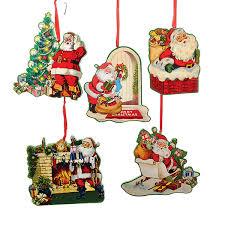 santa ornaments vintage santa ornaments