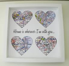 unique wedding present ideas heart map personalized engagement gift unique wedding gift