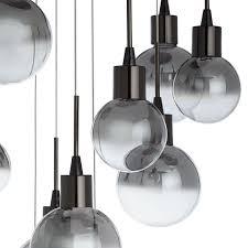 Black Glass Ceiling Light Lewis Dano Led Ombre Glass Ceiling Light 10 Light Smoke At