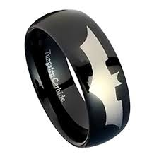 batman mens wedding ring black tungsten wedding band tungsten carbide ring for with