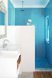 bathroom shower door mosaic decoration glass accent nature with