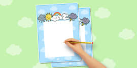draw the weather activity sheet weather worksheet drawing