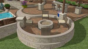 patio fire pits fire pit area with built in fire pit and seating wall curves and