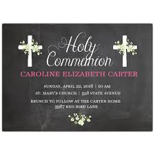 communion invitations chalkboard cross holy communion invitations paperstyle