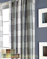 Plaid Blackout Curtains Envoy Plaid Semi Custom Curtains These Might Work For The