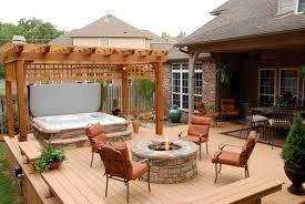 Patio Deck Ideas Backyard Bhot Tub Install With Patio Deck Porch Plus Decks Backyard