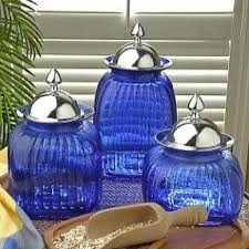 blue kitchen canister set glass kitchen canister sets foter