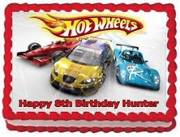 hot wheels cake toppers hot wheels edible cake topper birthday decorations ebay
