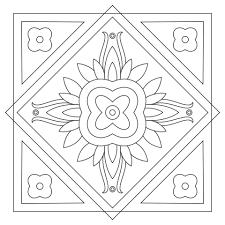 square mandala coloring free printable coloring pages