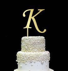letter k cake topper initial cake topper gold cake topper