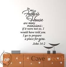 john 14 2 in my father u0027s house christian wall decal
