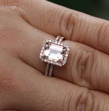 gold and morganite engagement rings best 25 emerald cut engagement rings ideas on emerald