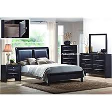 4pcs size bedroom set black finish kitchen
