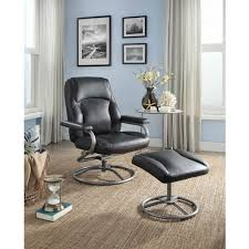 ottomans lane swivel recliner with ottoman leather reclining