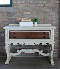 the molly sideboard makeover in the garage