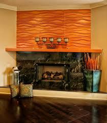 copper colored textured wall panels above a portuguese granite