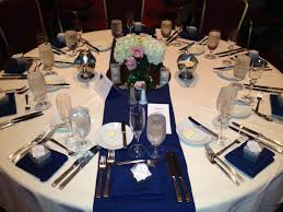 navy blue table linens white linen with navy blue table runner and napkins coralville