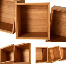 wooden work twisted wooden boxes work as wall shelves bookcases