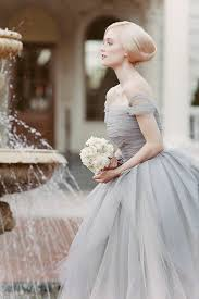 white and grey wedding dress wedding dusty blue and gray wedding inspiration cool chic style