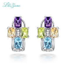 womens stud earrings l zuan s925 silver womens stud earrings trendy cross 1 058ct