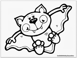 Halloween Kids Coloring Pages by Bat Coloring Pages Getcoloringpages Com