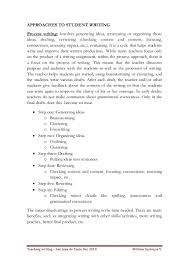 student writing paper approaches to student writing