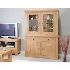 Oak Glazed Display Cabinet Bordeaux Oak Glass Display Unit Furniture4yourhome