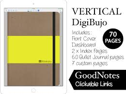 digital bullet journal vertical digibujo for goodnotes with