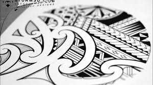 mixed samoan maori style tattoo design youtube