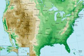 map usa and states united states topographical map