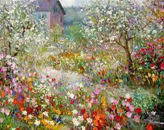 25 beautiful oil paintings by andrei belichenko woman garden