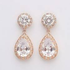 gold teardrop earrings gold cubic zirconia earring with swarovski teardrop pearl