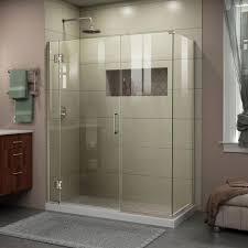 Manhattan Shower Doors by Dreamline Prism 36 12 In X 72 In Semi Frameless Corner Pivot