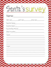 cute survey for kids to fill out before christmas and give to