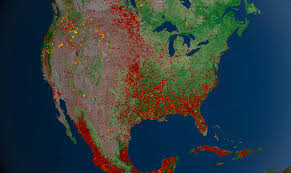 Wildfire Map U S Fires 2012 Image Of The Day