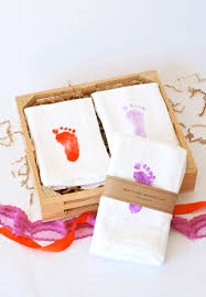 s day gift ideas from baby baby s s day gift idea towels footprints and