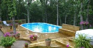 pool deck furniture ideas large round pool deck in patio outdoor