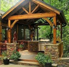 out door kitchen ideas charming kitchen the 25 best rustic outdoor kitchens ideas on